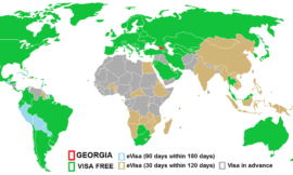 Visas and visa exemptions in Georgia (the country)