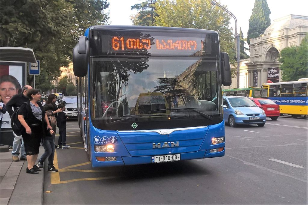A bus in Tbilisi